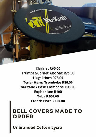 Picture of Woodwind & Brass Bell Covers (place your order 021 7032902)